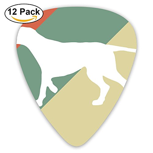 (Pointer Dog Vintage Silhouette Fashion Celluloid Printing Guitar Picks 12 Pack)
