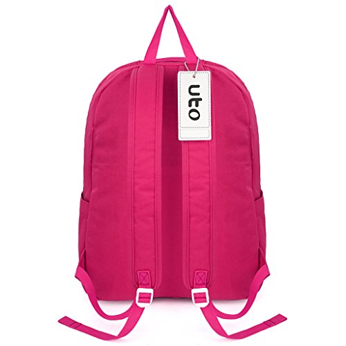 Running Rucksack Hiking Pink Backpack Back Rose Sport Bookbag College UTO Nylon School Rose Travel Lightweight Cycling Pink Unisex qxnwZ7vzZR