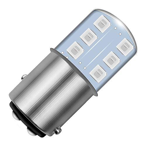 TOOGOO Led Brake Light 12V12Smd Silicone Dc Car Rear Light Stop Light Brake Light Turning Light Bulb 2Pcs,5050 1157, Yellow Light
