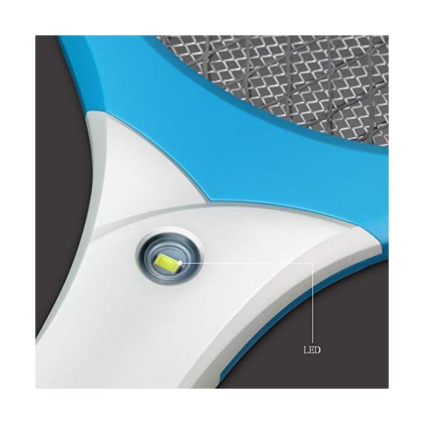 CYOUH Racchetta Zanzare Elettrica, Racchetta Elettrica Insetti con USB Ricaricabile Insetti Volare Swatter Zapper con… 3 spesavip