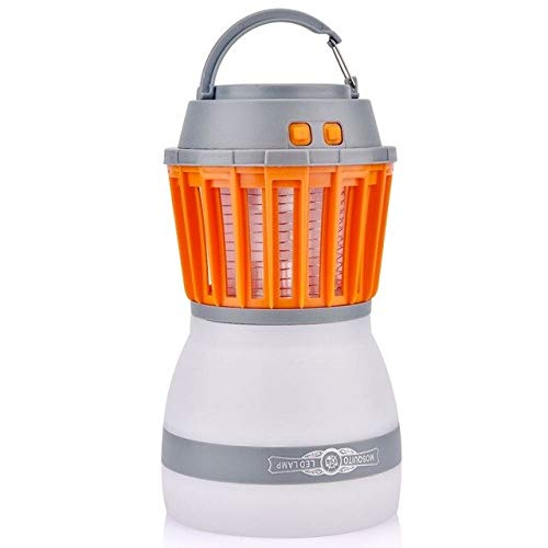 Portable UV LED Camping Light Solar Power Mosquito Killer Lamp Mosquito Zapper Lantern USB Charging Outdoor Garden Party   Lamp
