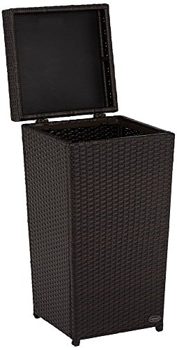 Crosley Furniture Palm Harbor Outdoor Wicker Trash Bin - Brown