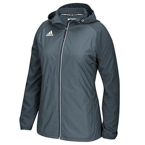(adidas Women's Modern Varsity Woven Jacket - Onix - Small )