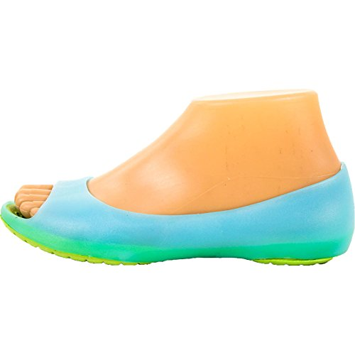 Sport Mujeres Cushion Sole Jelly Ballet Flats Aqua Blue