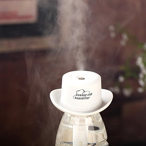 Air Purifier Humidifier Mini Essential Oil Diffuser AOTOM Portable Creative Cowboy Hat Humidifier with USB Charge for Home Office Car Bedroom SPA Travel (Black) by AOTOM (Image #5)