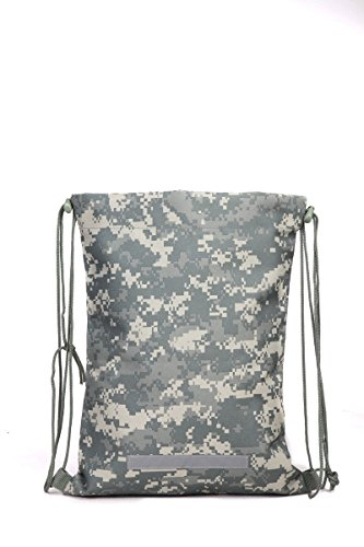 Heavy Duty Drawstring Backpack in Digital Camouflage Army Military Sack, Model: , Spoorting Goods Shop