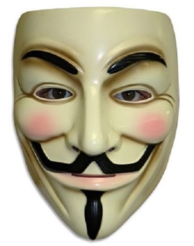 New Halloween Masks V for Vendetta Mask Guy Fawkes Anonymous Fancy Dress Costume ()