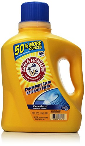 Arm & Hammer Laundry Detergent, Clean Burst, 150 Oz