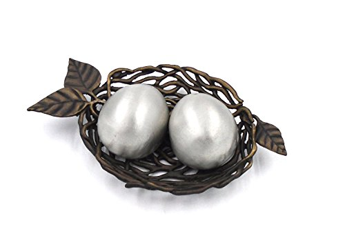 ''Bird's Nest with Eggs'' Salt Shakers by Michael Michaud for Silver Seasons Table Art by Michael Michaud