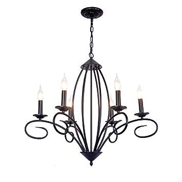 Amazon.com: Bagood - Lámpara de araña para comedor, hierro ...