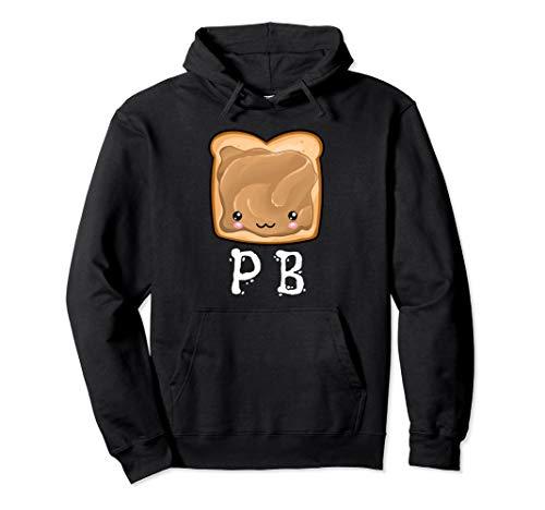 Kawaii PB&J Peanut Butter & Jelly Halloween Twins Matching  Pullover Hoodie