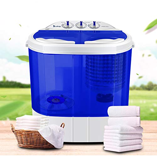 ROVSUN zokop Portable Twin Tub Electric Compact Mini Washer, Laundry Spin Perfect Camping Dorms
