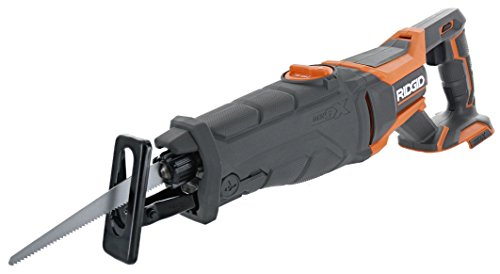 Cordless Lithium Ion Sawzall - Ridgid R8642 Gen5X 18V Lithium Ion Cordless Reciprocating Saw with Tool-Free Blade Changing,  Sight Line Blowing, and Variable Orbital Settings (Battery Not Included, Tool Only)