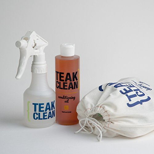 (Deluxe Teak Cleaning Kit | Cleaning Solution, Oil & Tools)
