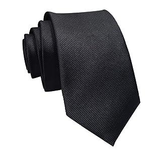 Quelife Casual Slim Plain Mens Solid Skinny Neck Party Wedding Tie Necktie