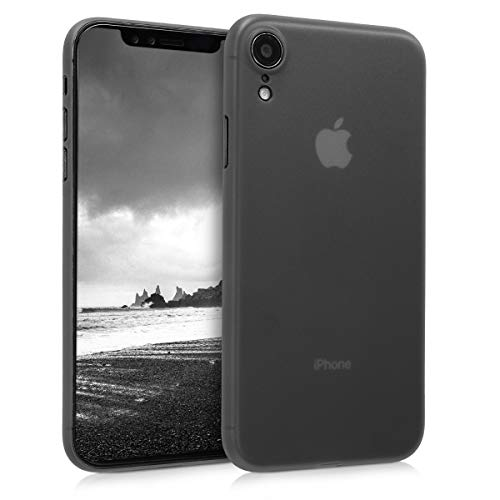 kwmobile Case Compatible with Apple iPhone XR - Ultra Slim Protective Mobile Cell Phone Cover - Black