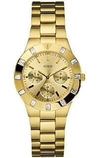Reloj Analógico Cuarzo Con Mujer Guess W11610l1 De Correa Para 8n0vmOwN