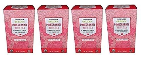 White Pomegranate - Trader Joe's Pomegranate White Tea, 20 Tea Bags (Pack of 4)