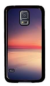 Samsung Galaxy S5 Calm Sea Beautiful Sunset PC Custom Samsung Galaxy S5 Case Cover Black