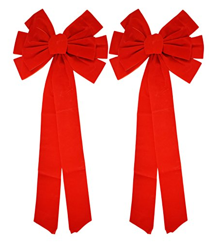 Red Velvet Bow (2 Pack) 26
