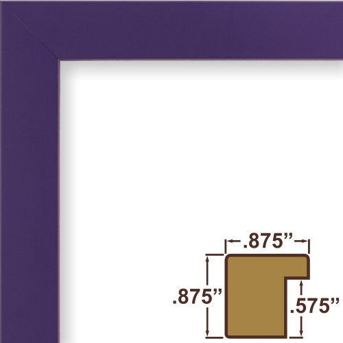 Craig Frames 140639 8 by 10-Inch Picture Frame, Solid Wood, Smooth Finish, .875-Inch Wide, - Frame Purple