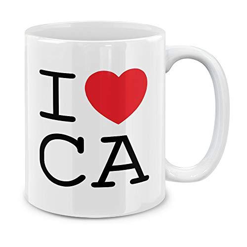 MUGBREW I Love CA California Ceramic Coffee Gift Mug Tea Cup, 11 OZ ()