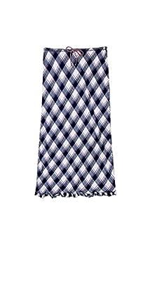 Max Studio Women's Ruffle Trim Plaid Maxi Skirt