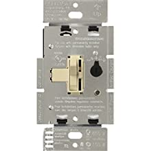 LUTRON TGCL-153PH-IV Toggler Dimmer Switch for LED, Incandescent and halogen bulbs, Ivory