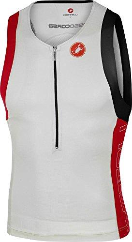 Castelli Men's Free Tri Top (White, Large) ()