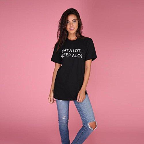 Blusen,WINWINTOM Frauen Sommer Buchstabe gedrucktes kurzes Hülsen Blusen Hemd T-Shirt Blusen Oberseite