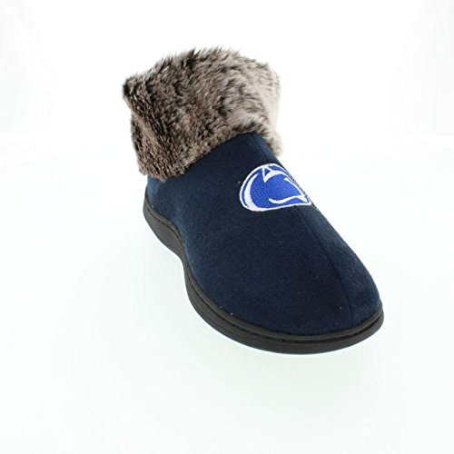 PSU14-1 - Penn State Nittany Lions Faux Sheepskin Furry Top Slippers - Small