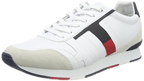 Blanc blanc Hommes 2c1 La Sneaker Hilfiger IwTx1PFqO