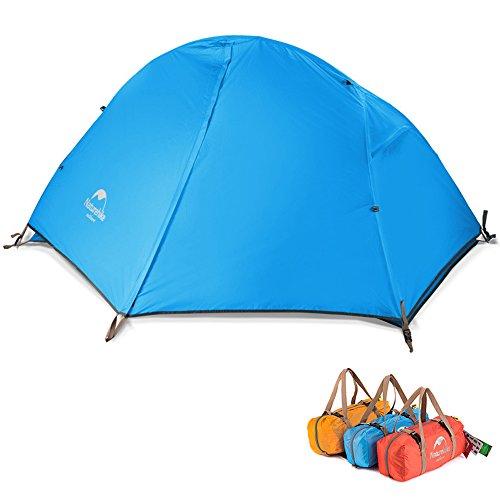 ワイヤー体系的にライオンキャンピングテント 二層構造 3シーズンに適用 アウトドア ツーリングテント超軽量 コンパクトテント ビーチ/登山/ピクニック/災害 ペグ付き[1人用]