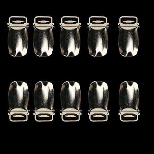 Buckles & Hooks - Hgho 10pcs Suspenders Clip 1.18 Inches - Lock Attachment Clips Iron Combination Suspender Metal Hair Combs Extensions Clip Flat Grooming Comb