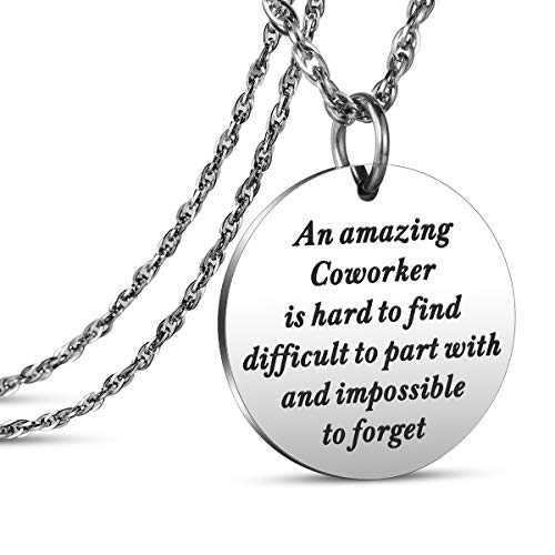 JanToDec Jewelry Coworker Leaving Gifts for Women Goodbye Retirement Gifts for Boss Co-Worker Colleague an Amazing Coworker Necklace