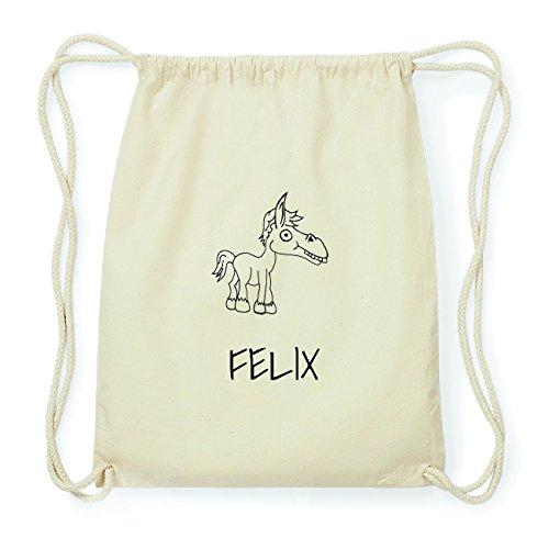 JOllipets FELIX Hipster Turnbeutel Tasche Rucksack aus Baumwolle Design: Pferd OqyJqoR