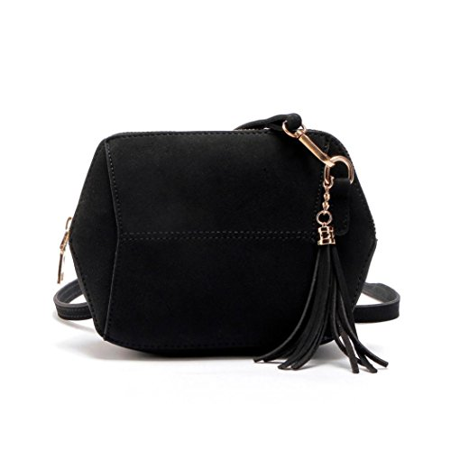 Satchel Hobo Crossbody Bucket Leather Bags Bag black Anyada Yellow Handbag Womens Tassel Shoulder Tote F8awZxqXw