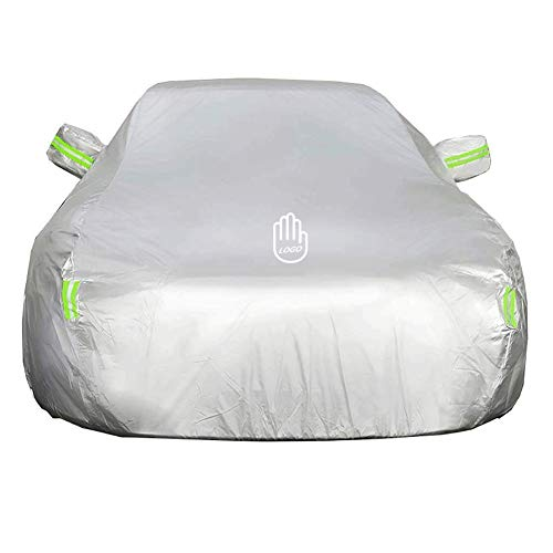 CAR COVER for Automobiles All Weather Waterproof,Suitable for Volvo V60 Lock and Cable Kit (Color : Silver)