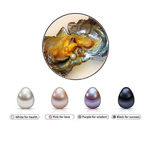 FidgetKute 5PCs Natural Akoya Oyster Freshwater AAA 5-8mm Wish Pearls Real Pearl Shell Lots