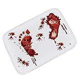 """AOOK Homemade Bloody Shower Mat Bath Mat 23.5"""" x 17"""" …"""