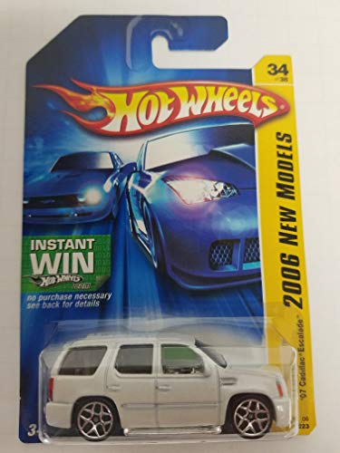 ('07 Cadillac Escalade Spoked Rims Instant Win Package No. 034 New Models Hot Wheels 2006 1/64 scale diecast)