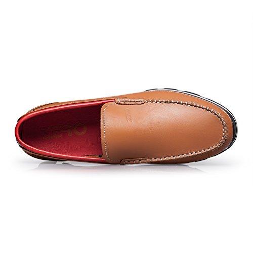 ZRO Herren Classy Penny Slip-On Loafer Fahrschuhe Hellbraun