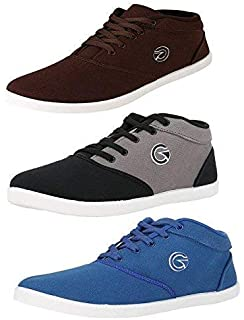 b0b9e00a639e Globalite Men s Multicolor Canvas Combo of 3 Sneakers - Walk and Earn Money  with The BolttCoin
