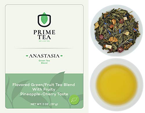 GREEN TEA - 2 Ounce ≈ 30 Servings - Delicious Vegan All Natural Flavors Non-GMO Loose Leaf Tea - Hot or Iced - Green Tea Blend -
