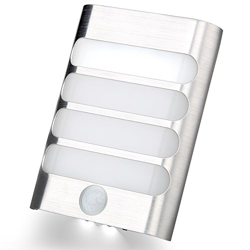 LED Wall Sconce Lofter Rechargeable Aluminum Alloy Motion Sensor Activated Night Light Stick-Anywhere, Auto On/Off Wall Lamps for Hallway,Pathway,Stairs,Bathroom,Bedroom,Kitchen (Rechargeable) Auto Stick