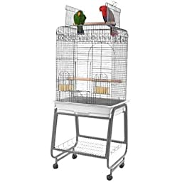 A&E CAGE CO 22-Inch Open top Playtop Cage, Black