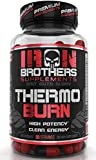 Thermogenic Fat Burners for Men/Women - Hardcore Weight Loss Pills - Appetite Suppressant- Premium Metabolism/Energy Booster – 60 Veggie Capsules - Keto Friendly - Iron Brothers Thermo Burn