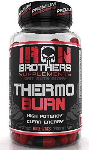 Thermogenic Fat Burners for Men/Women - Hardcore Weight Loss Pills - Appetite Suppressant- Premium Metabolism/Energy Booster - 60 Gel Capsules - Keto Friendly - Iron Brothers Thermo Burn ()