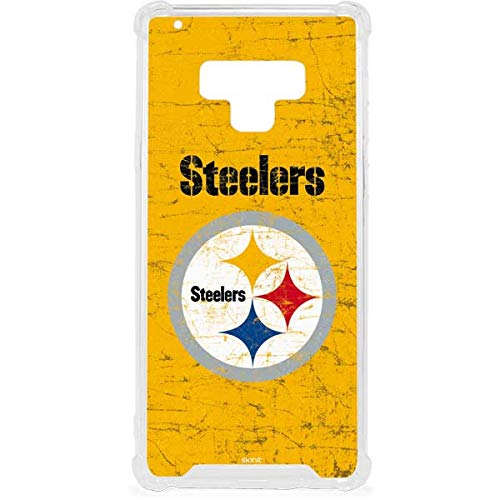 (Skinit Pittsburgh Steelers - Alternate Distressed Galaxy Note 9 Clear Case - NFL - Skinit Clear Case - Transparent Galaxy Note 9 Cover)