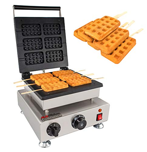 ALDKitchen Swing type BELIGIUM Waffle maker Nonstick Electric Egg Biscuit Roll Maker Machine Bake Machine (Lollipops)
